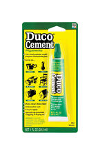 DUCO Cement Glue for Ceramic Glass Plastic Wood Metal   1oz  NEW!