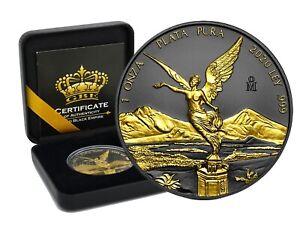 1 OZ Silber Libertad 2020 Mexico Plata Pura Gold Black Empire Edition