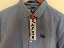 SUPERDRY CUT COLLAR SHIRT BNWT TWILL WEAVE BLUE 2XL