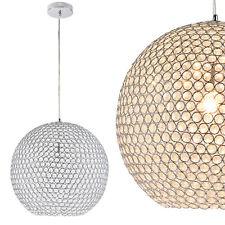 B-WARE Kristall Hängeleuchte Ø40 cm Kugelleuchte Deckenlampe Zimmerlampe