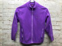 Girls Purple Zip Up Marmot Fleece with Pockets Size Medium Purple