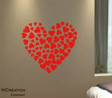 Valentine's Day Gift Wall Decal Home Decor Room Sticker Be my valentine Hearts