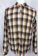 Prana Breathe Button Front Hiking Camp L/S Shirt Plaid Men's Size Medium A3