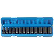 "Grey Pneumatic 1213MSD 3/8"" Drive 13-Piece Semi-Deep Socket Set (Metric)"