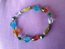 bracelet multi colourd A ladies stretch bead