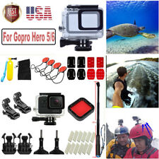 For GoPro Hero 5/6 Sport Camera Accessories Kit Selfie Stick Waterproof Case Hot