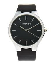 Kenneth Cole Slim Classic Luminous Black Dial Leather Men's Watch 10003135 SD
