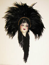 NEW IN BOX - Unique Creations Small Art Deco Lady Face Mask Wall Hanging Decor