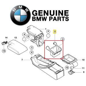 For BMW E46 323i 325xi 328Ci 330i M3 Console Upper Black Genuine 51168218307