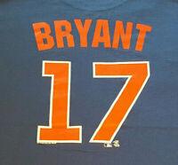 Chicago Cubs Kris Bryant T Shirt XL X-Large MLB EUC Baseball Away Logo INV1615