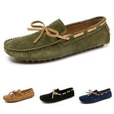 Men's Pumps Loafers Shoes Breathable Slip on Bowknot Non-slip Driving Moccasin