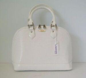Boxing Now  Women Handbag Satchel Hobo  Water ripple WHITE Bag BIG Shell Shape