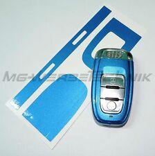 3A_arredamento chiave adesivo per Audi A4 A5 A6 Q5 blu metallizzato brillante