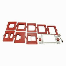 Door Mortising Kit Routers Hinges Strike Latch Plates Jamb Steel Template Frame