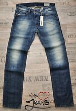 DIESEL DARRON 0814A 28 29 L32 NEW TAPERED MAN / MENS JEANS BLUE DISTRESSED FADED