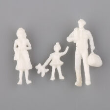 100pcs 1 300 Scale White Model Unpainted Figures People Trains Architecture