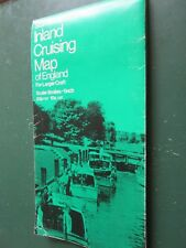 STANFORDS' Inland Cruising Map of England Scale  8mls - 1 inch  folding map