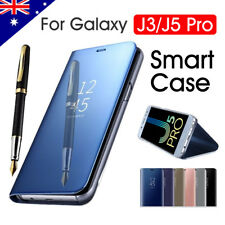 Galaxy J5 Pro J3 2017 Case Luxury Slim Mirror Flip Cover For Samsung S9 S9 Plus