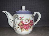 Vintage A-Price Import(Japan) Small Porcelain teapot Handpainted Glazed