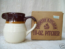 Vintage Country Kitchen 10-oz Pitcher Jug Creamer 3-tone Brown New In Box