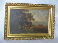 Hudson River School c19th Century c1885 Original Oil On Canvas Landscape
