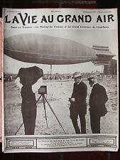 LA VIE AU GRAND AIR N°471 (sept.1907) AUTO Le meeting du VENTOUX ; Les canots