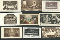 9 Estampas antigua de la Ultima Cena andachtsbild santino holy card santini