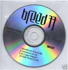 BREED 77 Worlds On Fire 2004 UK 3-trk promo test CD