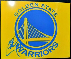 STEPHEN CURRY SIGNED AUTOGRAPH GOLDEN STATE WARRIORS LOGO 8X10 PHOTO PROOF PICS