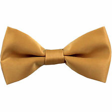 New KID'S BOY'S 100% Polyester Pre-tied Bow tie only Gold formal wedding