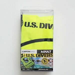 Adult U.S. Divers Snorkeling Vest Flotation Life Preserver. New in box.