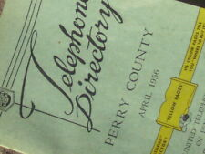 Rare April 1956 Perry County Telephone Directory yellow pages phone book