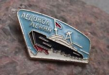 Soviet Union Ice Breaker Lenin 1st Nuclear Powered Surface Vessel Ship Pin Badge