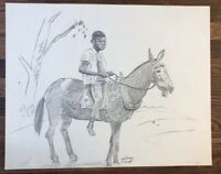 Authentic FRANK GUTIERREZ PAINTING DRAWING ORIGINAL Graphite