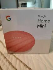 Google Home Mini Gen1 Smart Assistant, Coral/Pink, complete new