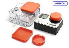 Linsen Schutz f. GoPro HERO 4 Zubehör Lens Cap Protector Abdeckung Kappe Red