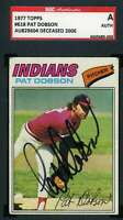 Pat Dobson 1977 Topps SGC Coa Autograph Authentic Hand Signed