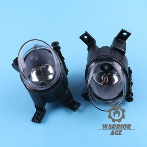 For AUDI A3 S-LINE 04-13 A4 B7 05-08 Front  Fog Lamp Clear Glass Lens L&R