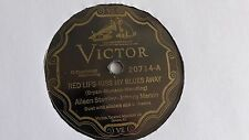 Aileen Stanley - 78rpm single 10-inch – Victor #20714 V.E.  Red Lips – Kiss My..
