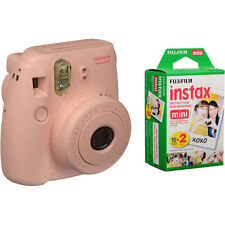 SPECIAL BUNDLE Fujifilm Instax Mini 8 PINK Instant Camera inc TWIN PACK 20 SHOT