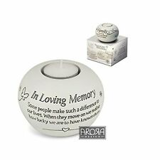 Said with Sentiment Tealight candle Holder - In Loving Memory NEW  25698