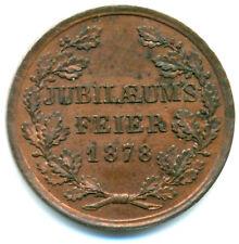 Bayern-München, Ludwig II., Cu-Medaille 1878 Jübiläum Turnanstalt