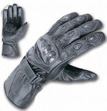 Gants noirs articulation en cuir pour motocyclette