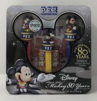 Disney 2007 Pez Mickey Mouse Trio 80 Years Collection Tin
