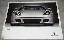 2003 Factory Porsche Poster Carrera GT Awesome Silver Car