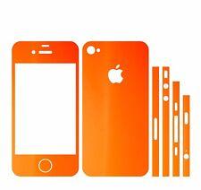 22 FAR. IPHONE 4S FOLIE ORANGE MATT ( BUMPER COVER HÜLLE SCHALE CASE AUFKLEBER)