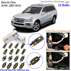 22pcs Deluxe LED Interior Dome Light Kit White For X164 2006-2012 Benz GL-Class