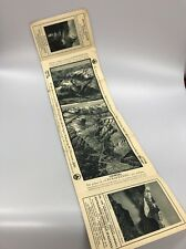 Vintage Alpine Tour Map Brochure Saurer Motor Coaches 1924 Alps Mountain