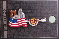 HARD ROCK CAFE CINCINNATI FLAG OVER CITY GUITAR PIN