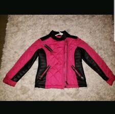 Girls Steve Madden quilted faux leather moto jacket coatsize 5/6